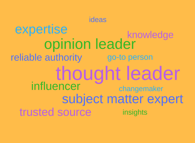 thought leadership word cloud