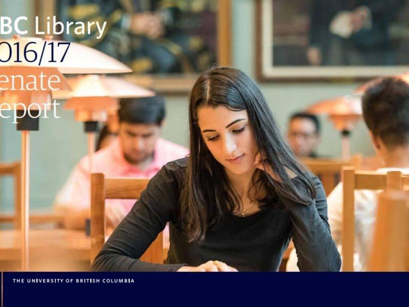 UBC Library 2016/17 Senate Report